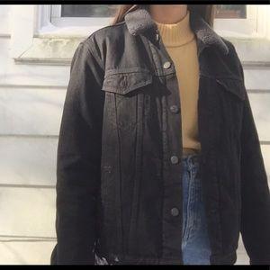 Levi's black denim sherpa jacket